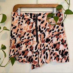 RVCA Pink Animal Print Shorts